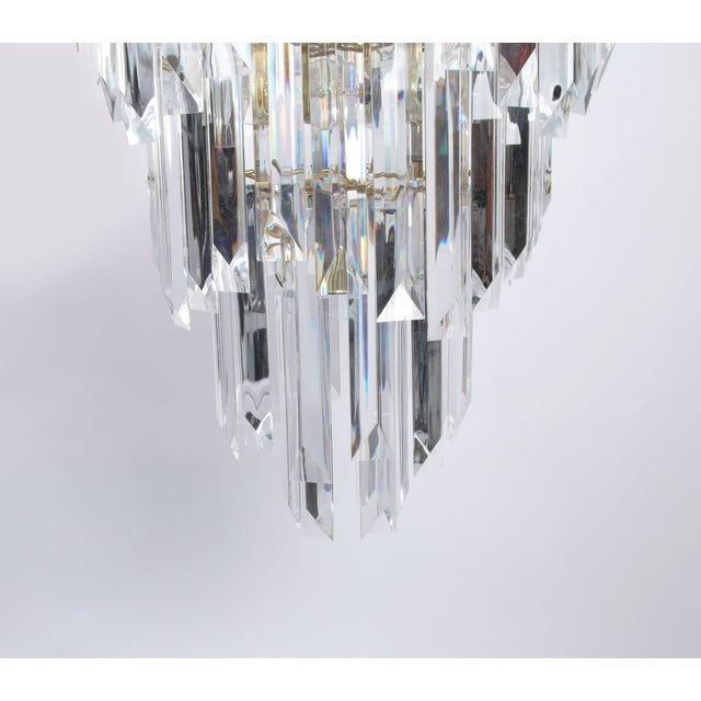 7-Tier Brass & Lucite Chandelier - Image 9 of 11