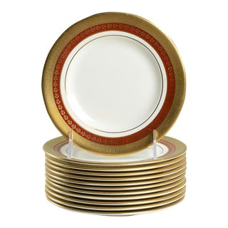 Minton Imperial Gold Appetizer Accent Plates Set of 12 For Sale
