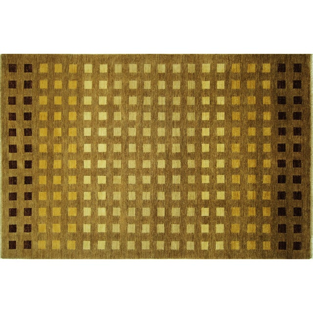 "Gabbeh Checkered Wool Rug - 7'9"" x 9'8"" - Image 1 of 9"
