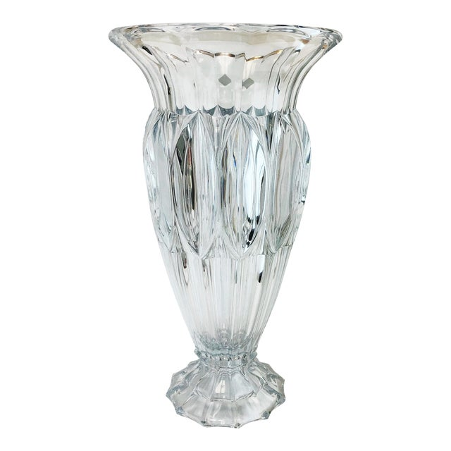 Shannon Crystal Fluted Vase For Sale