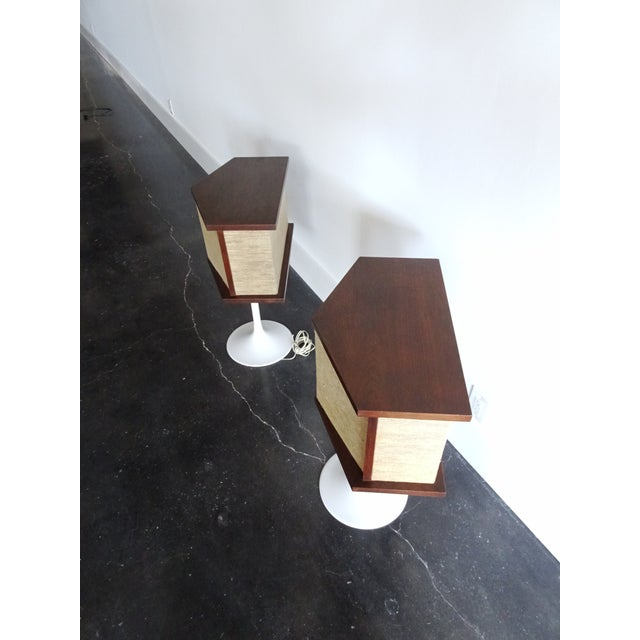 1970s Vintage Bose Speakers on Pedestal Tulip Bases - a Pair For Sale In Miami - Image 6 of 12