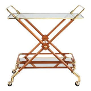 Hudson Bar Cart in Honey For Sale