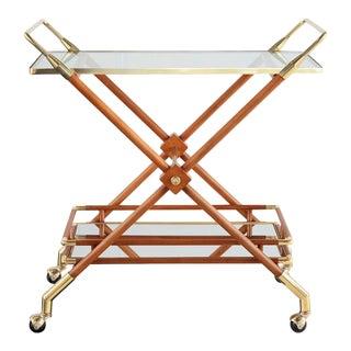 Hudson Bar Cart in Honey For Sale