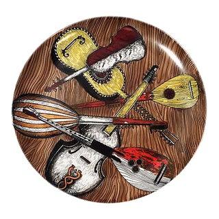 """Fornasetti """"Instrumenti Musicali"""" Decorative Plate"""