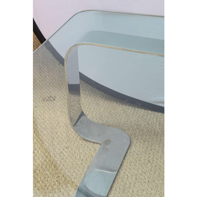 """Rare and Sculptural Gary Gutterman """"Odyssey"""" Coffee Table in Polished Steel For Sale In Miami - Image 6 of 10"""