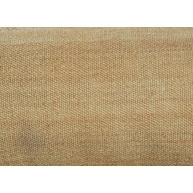 Decorative Neutral Woven Lumbar Pillow - Image 4 of 4