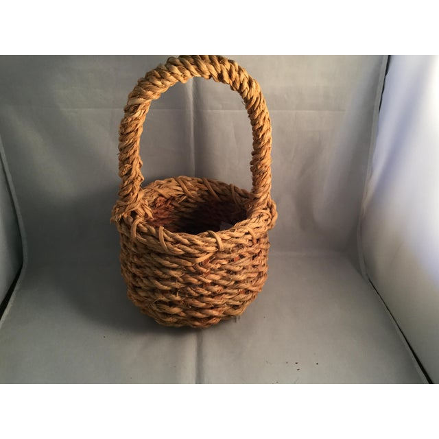 Handmade hemp basket. A great storage item!