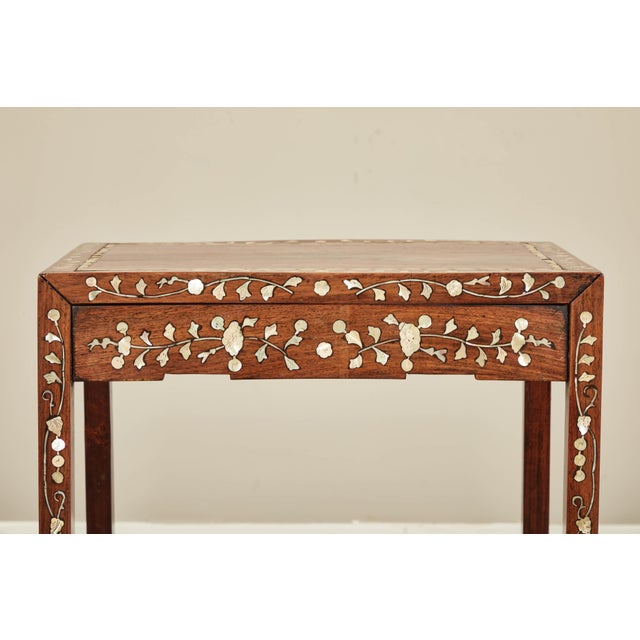 19th C. Side Table With Mother-Of-Pearl Inlay For Sale - Image 4 of 8