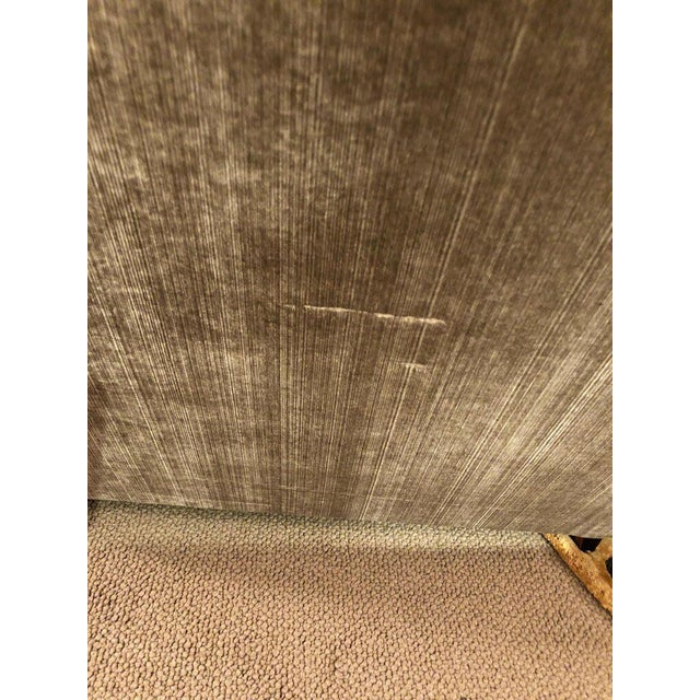 Tan Modern George Smith Taupe Silk Velvet Sofa For Sale - Image 8 of 12