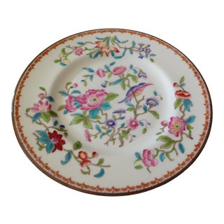 Antique 1900s English Coalport Pembroke Floral Salad/Dessert Plate For Sale