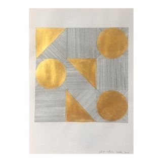 Gold II Graphite & Gold Painting For Sale