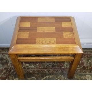 Lane Oak & Walnut Parquet Top End Table Preview