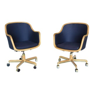 1970's Pair of Desk Chairs by Ward Bennett for Brickel Associates For Sale
