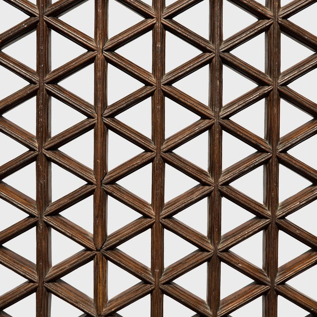 Asian Set of 19th Century Chinese Four Treasure Lattice Panels For Sale - Image 3 of 12