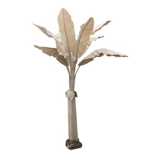 Large Linen Banana Tree With Palm Leaves For Sale