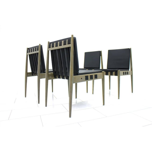 A large set of 60 dining room chairs SE 121 by architect Egon Eiermann, 1964. This chairs are in a rare grey color and...