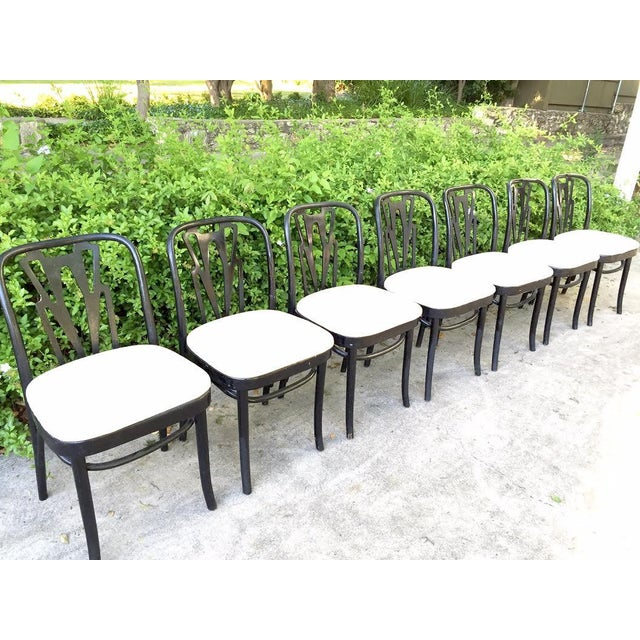 Vintage Cafe Dining Chairs - Set of 7 - Image 3 of 9