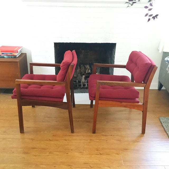 Mid-Century Side / Accent Chairs - Pair - Image 4 of 11