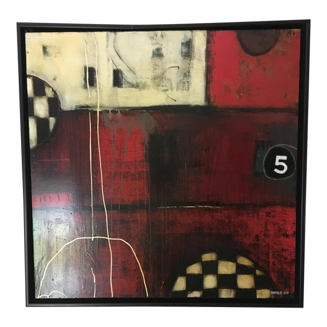 """""""5 Ball"""" Mixed Media by Anke Schofield For Sale"""