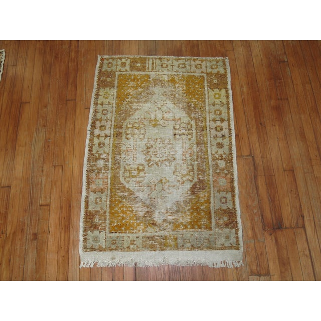 Distressed Turkish Anatolian Rug, 2'11'' x 4'3'' For Sale - Image 4 of 5
