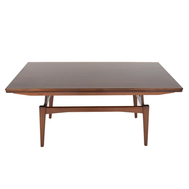 Danish Modern Rosewood Elevation Coffee Table - Image 4 of 8