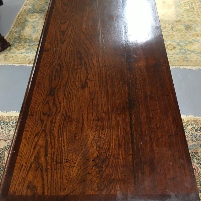 English Oak Low Sideboard Dresser For Sale - Image 9 of 10