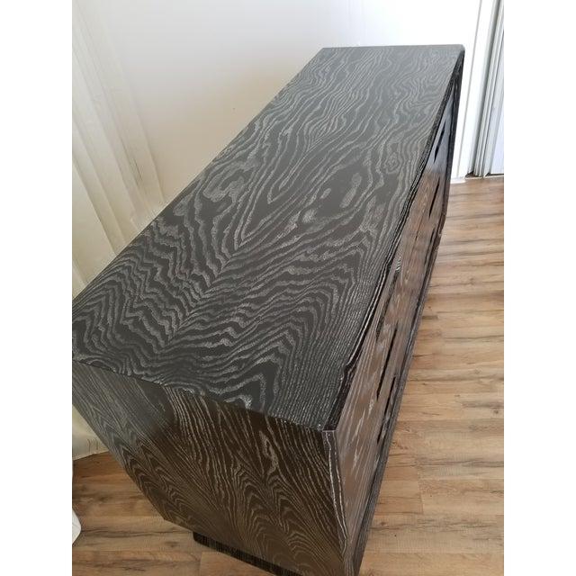 Mid Century Black Ceruse Dresser For Sale - Image 12 of 13