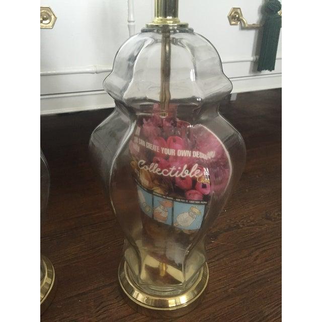 Set of 2 Vintage Glass Fillable Ginger Jar Lamps - Image 7 of 10