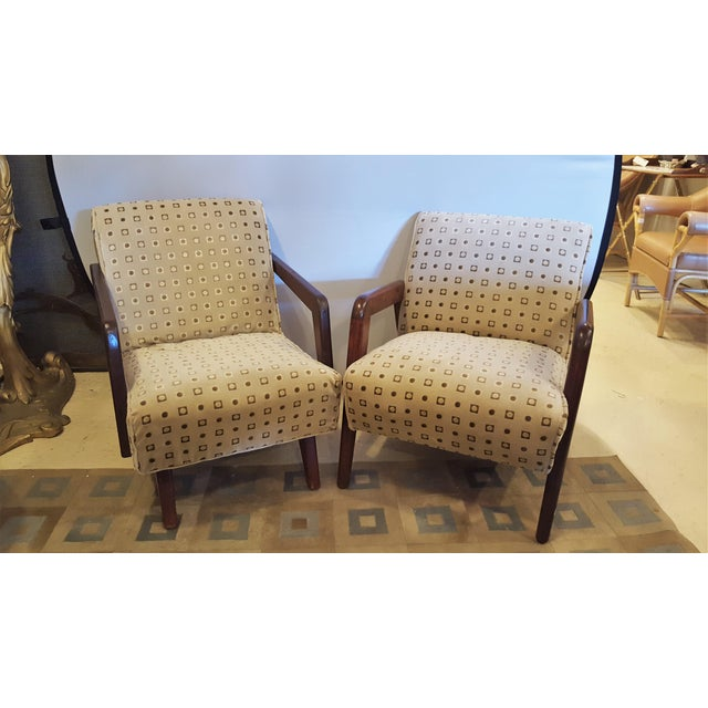 Mid-Century Modern Mid-Century Modern Armchairs - A Pair For Sale - Image 3 of 8