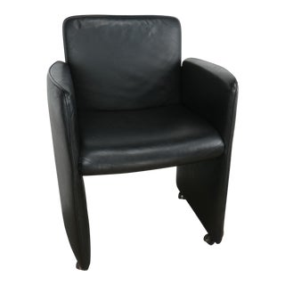 Early 21st Century Modern Calia Italia Black Leather Lounge Chair For Sale