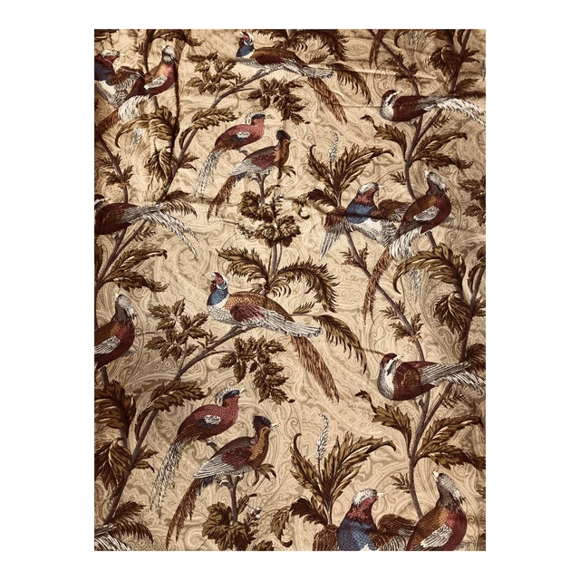 Feathered Birds in Trees a Braemore Design Screen Fabric For Sale