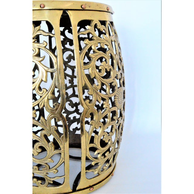 Mid Century Modern Asian Inspired Vintage Brass Fretwork