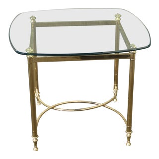 Vintage French Provincial Gold End Table For Sale