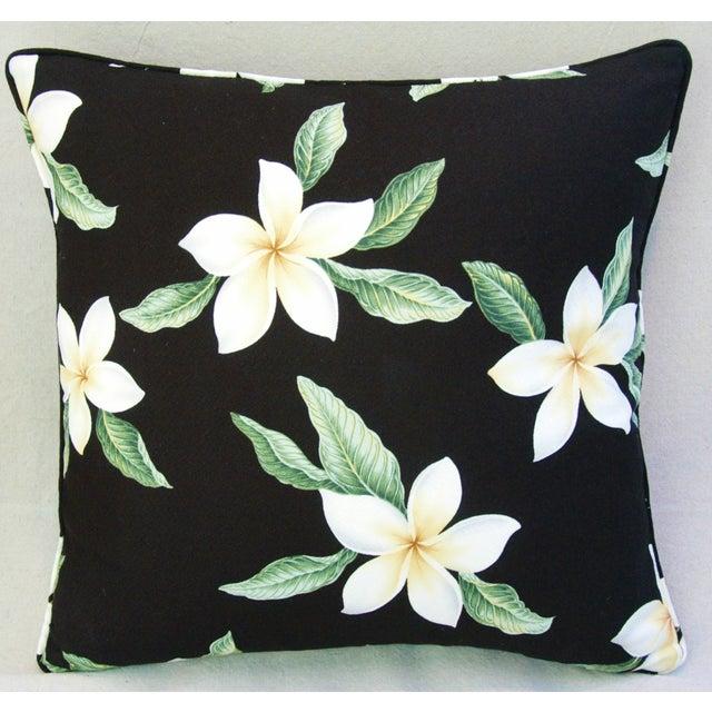 Custom Tropical Blossom Barkcloth Pillows - A Pair - Image 7 of 10