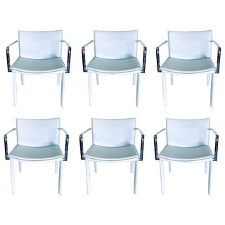 1980s Contemporary Modern Milo Baughman Safari Chairs- Set of 6 For Sale