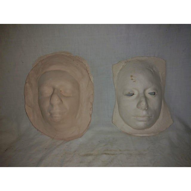 Vintage 1970's Pottery Face Masks - A Pair For Sale In Sacramento - Image 6 of 8