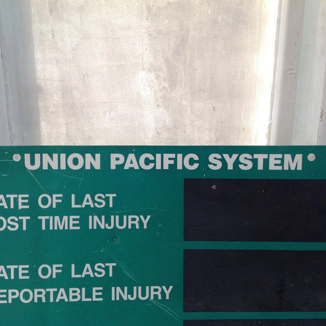 Union Pacific System Shop Sign For Sale - Image 4 of 11