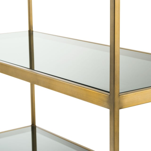 5 Shelf Brass Cabinet | Eichholtz Omega For Sale - Image 4 of 5