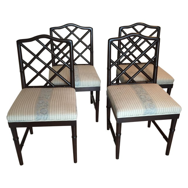 Solid Wood Chippendale Dining Chairs - Set of 4 - Image 1 of 6