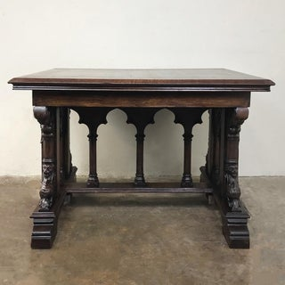 19th Century French Gothic Library Table Preview
