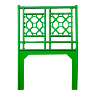 Lattice Back Headboard Twin - Bright Green For Sale