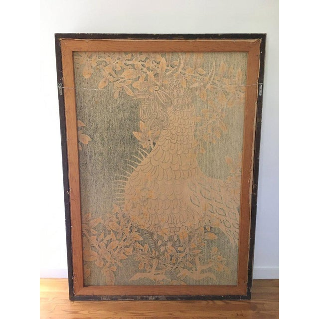 Wood Jean Lurcat Mid-Century Modern Framed French Rooster Tapestry For Sale - Image 7 of 11