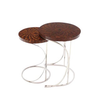 Modern Round Nesting Tables - A Pair For Sale