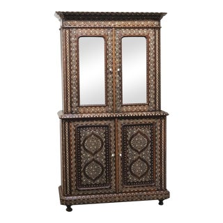 Late 19th Century Inlay Almirah Armoire For Sale