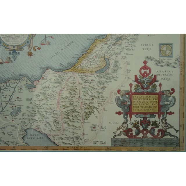 Vintage Print of Antique Palestine & Syria Map For Sale - Image 4 of 5