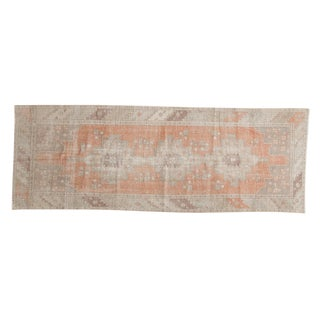 "Vintage Distressed Oushak Rug Runner - 3' x 8'5"""