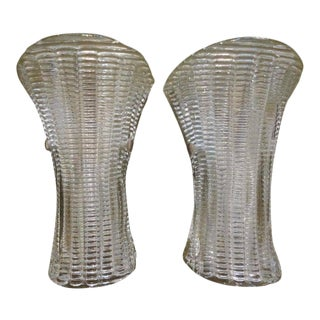 1970's Barovier Style Murano Glass Sconces-A Pair For Sale