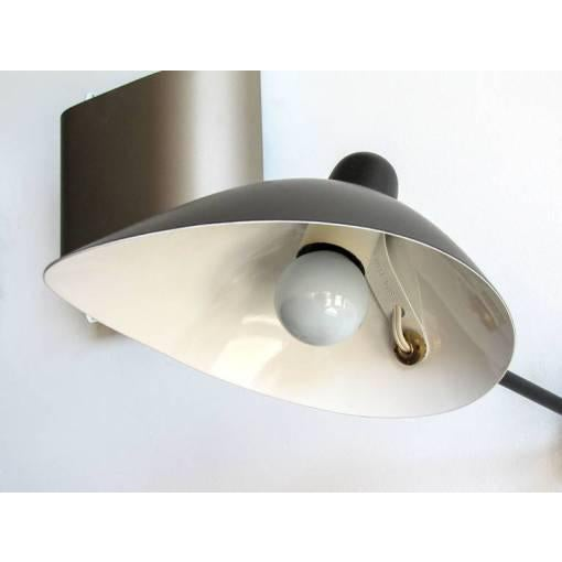 Serge Mouille Adjustable Black Metal Wall Light For Sale - Image 5 of 10