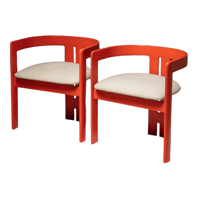 """Set of Two """"Pigreco"""" Chairs by Tobia Scarpa for Gavina For Sale"""