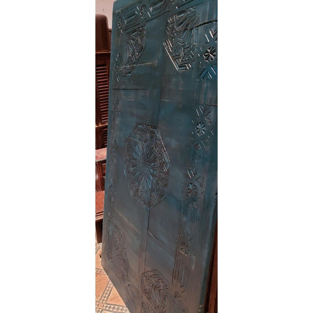 Islamic 21st Century Vintage Moroccan Wooden Panel For Sale - Image 3 of 7